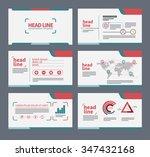 presentation template flat... | Shutterstock .eps vector #347432168