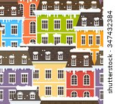 winter city seamless pattern.... | Shutterstock .eps vector #347432384
