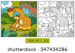 coloring book for children  two ...   Shutterstock .eps vector #347434286