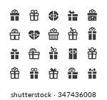 gift box icons. | Shutterstock .eps vector #347436008