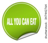 all you can eat round green... | Shutterstock .eps vector #347442764
