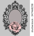 lace. frame. rose. gothic. rose ... | Shutterstock .eps vector #347468258