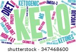 keto word cloud on a white... | Shutterstock .eps vector #347468600