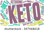 keto word cloud on a white... | Shutterstock .eps vector #347468618