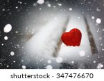 snow hearts red winter two   Shutterstock . vector #347476670