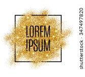 gold background for flyer ... | Shutterstock .eps vector #347497820