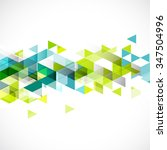abstract colorful geometric... | Shutterstock .eps vector #347504996
