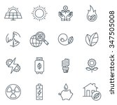 green energy icon set suitable... | Shutterstock .eps vector #347505008