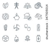 green energy icon set suitable... | Shutterstock .eps vector #347505014