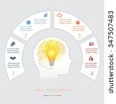 head  lightbulb  brain ...   Shutterstock .eps vector #347507483