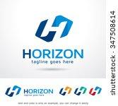 horizon letter h logo template... | Shutterstock .eps vector #347508614