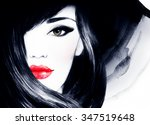 beautiful face. woman portrait... | Shutterstock . vector #347519648