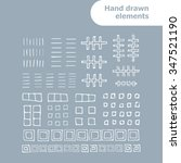 vector set for your design with ... | Shutterstock .eps vector #347521190