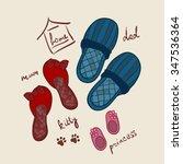 slippers | Shutterstock .eps vector #347536364