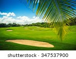 golf course. beautiful... | Shutterstock . vector #347537900