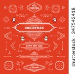 christmas decorations set.... | Shutterstock .eps vector #347542418