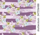 vector seamless floral hand...   Shutterstock .eps vector #347556488