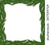 christmas tree frame isolated.... | Shutterstock .eps vector #347559719