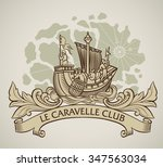 vintage style design of a... | Shutterstock . vector #347563034
