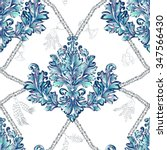 pattern with blue and white... | Shutterstock .eps vector #347566430