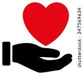 heart charity glyph icon. style ... | Shutterstock . vector #347569634