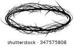 crown of thorns  vector... | Shutterstock .eps vector #347575808