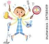 housework is busy | Shutterstock .eps vector #347585459