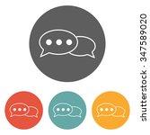 talk icon | Shutterstock .eps vector #347589020