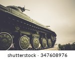 Vintage Military Tank In The...