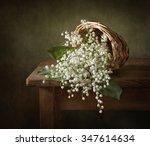 still life with a basket full... | Shutterstock . vector #347614634