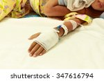 patient child in hospital bed... | Shutterstock . vector #347616794