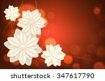 abstract flowers on blurred... | Shutterstock .eps vector #347617790