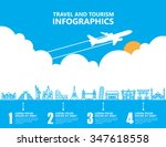 travel infographics  landmark...