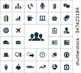 company icons vector set   Shutterstock .eps vector #347623184