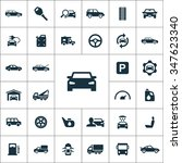 auto icons vector set | Shutterstock .eps vector #347623340
