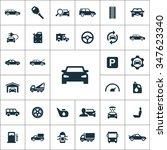 auto icons vector set | Shutterstock .eps vector #347623340