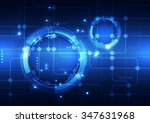 abstract futuristic digital... | Shutterstock .eps vector #347631968