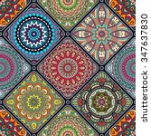 seamless pattern. vintage... | Shutterstock .eps vector #347637830