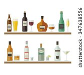 drinks and beverages icons.... | Shutterstock .eps vector #347638556