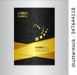 gold and black cover design... | Shutterstock .eps vector #347644118