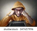 bored technician   Shutterstock . vector #347657996