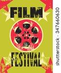 film festival poster. retro... | Shutterstock .eps vector #347660630