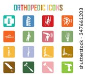 orthopedic and spine symbol  ...   Shutterstock .eps vector #347661203