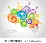 creative human brain in the...   Shutterstock .eps vector #347661380