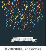 festive colored confetti with a ...   Shutterstock .eps vector #347664419