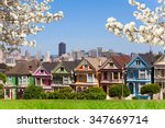 spring photo of painted ladies... | Shutterstock . vector #347669714