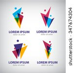 set of vector men logos  human... | Shutterstock .eps vector #347674304