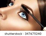 mascara applying closeup  long...   Shutterstock . vector #347675240