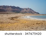 view of dead sea coastline | Shutterstock . vector #347675420