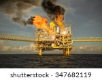 offshore oil and gas fire case... | Shutterstock . vector #347682119